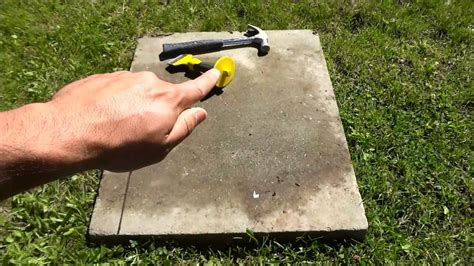 Cutting Patio Stones by How To Cut A Paver With A Chisel