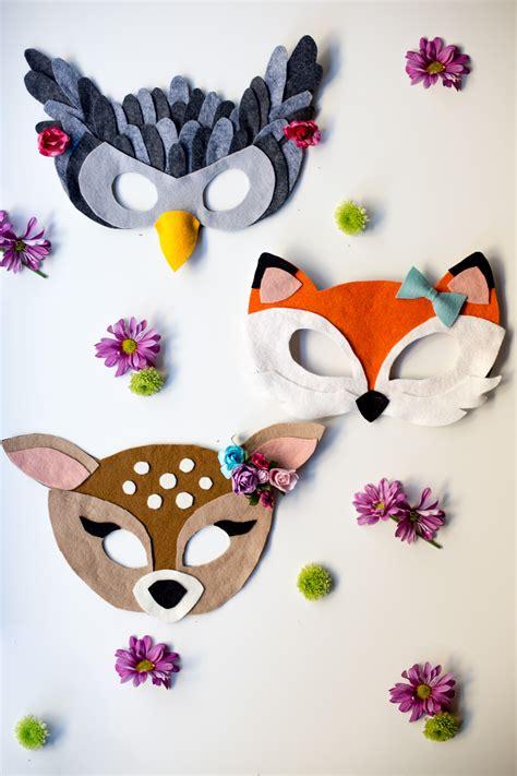 printable woodland animal masks no sew free felt animal mask patterns flax twine