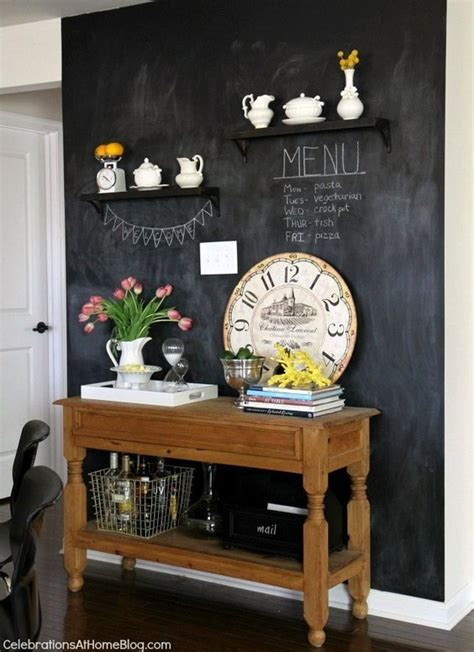 chalkboard paint kitchen ideas our home kitchen tour kitchen chalkboard walls home