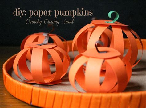 How To Make A Paper Pumpkin - diy paper pumpkins