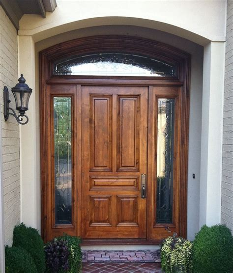 Home Design 85 Mesmerizing Wooden Front Door With Glasss Wood Front Entry Door