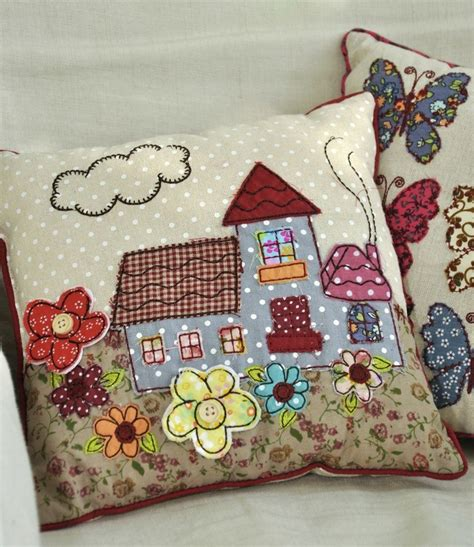 Cottage Patchwork - mini patchwork cottage cushion dotcomgiftshop