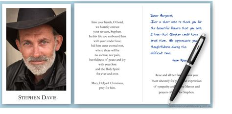 funeral holy card template photo funeral thank you cards personalized to suit your