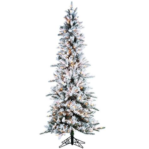 holiday living 7 ft denver pine tree sterling 7 5 ft pre lit flocked narrow pine artificial tree with clear lights 5820