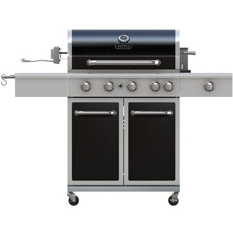 better homes and gardens 5 burner gas grill with side burner black walmart com