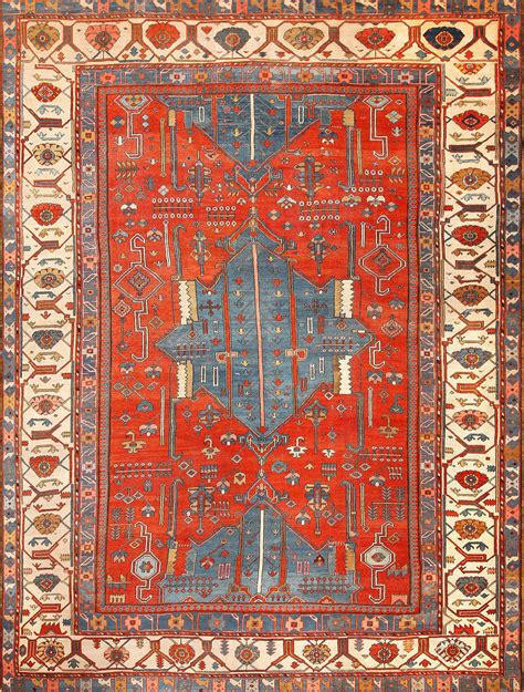 antique rugs antique tribal bakshaish rug 49137 by nazmiyal