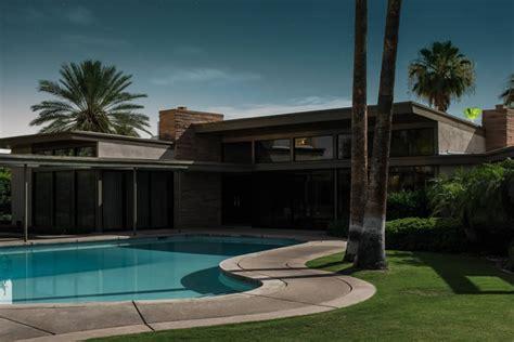 frank sinatra house twin palms by e stewart williams tom blachford midnight modern palm springs under the