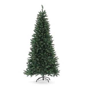 view 7 pre lit artificial christmas tree slim with clear