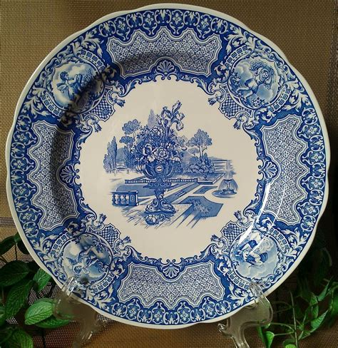 the spode blue room collection spode blue room collection seasons quot june quot plate from anniesavenue on ruby