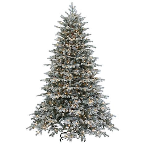 sterling 7 1 2 natural cut flocked vermont spruce lighted
