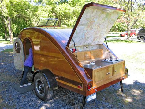 teardrop trailer plans free give up tenting in the rain build an rv teardrop trailer