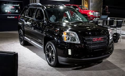 gmc terrain blacked out 2017 gmc terrain adds blacked out nightfall edition news