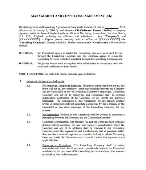 consulting contract template 12 consultant contract templates free word pdf