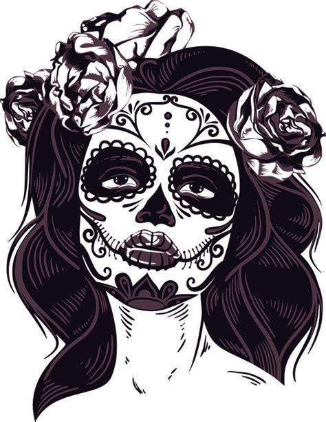 gambar tattoo png free vector graphic mask horror women female free