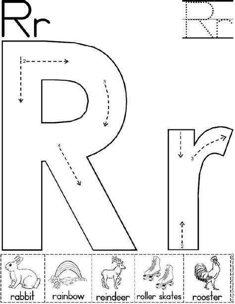 Kindergarten Activities With The Letter R | alphabet letter r worksheet standard block font