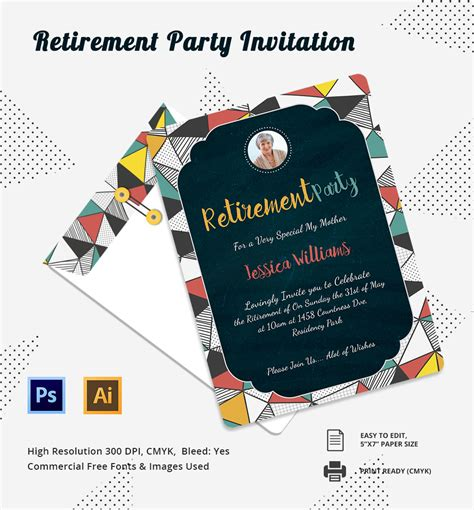 retirement dinner invitation template retirement invitation template 15 free psd vector eps