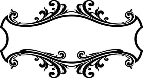 design elements vector png decorative ornamental flourish frame design icons png