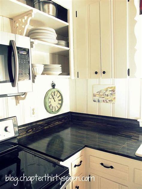 gorgeous diy countertops  plain pine boards