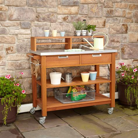 outdoor potting benches amusing potting bench design with sink ideas exterior