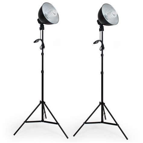kit illuminazione fotografica tectake continuo kit illuminazione set 5500k 2 x lada