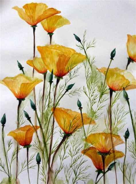 watercolor garden tutorial 180 best watercolor flowers images on pinterest water