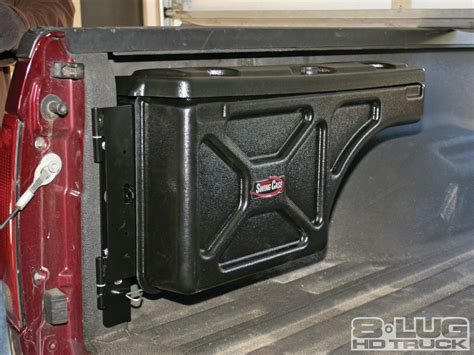 swing box swing case toolbox install undercover bed mounted toolbox