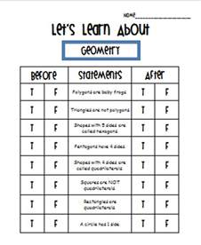 anticipation guide template primary inspired using guided math with the whole class