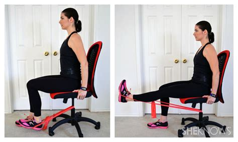 Chair Exercises With Bands by Leg Exercises You Can Do From Your Office Chair