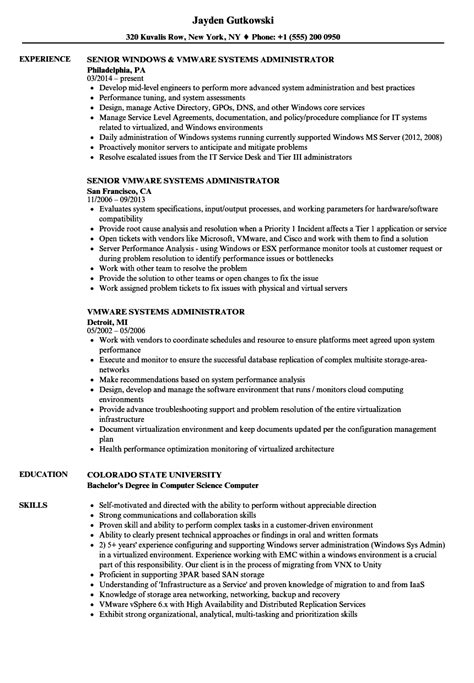 resume format for experienced system administrator best of