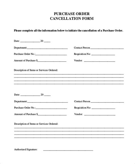sample purchase order form  examples  word