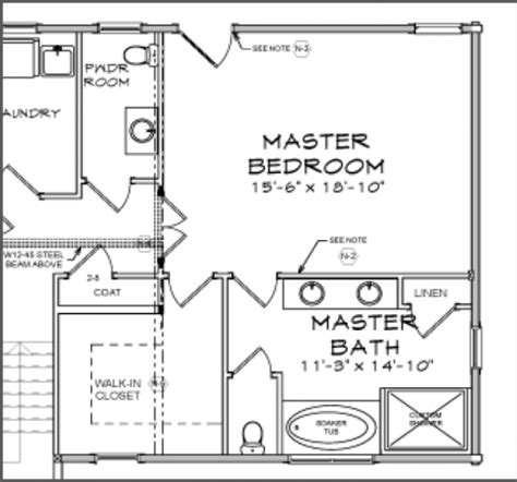 Master Bedroom Closet Measurements Blueprint Reading Basics Custom Timber Log Homes