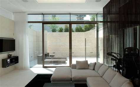 sofa living space glass walls ks house in stein austria