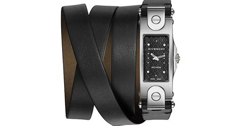 Mt185hublot Leather Stainless Black givenchy seven stainless steel leather wrap in black lyst