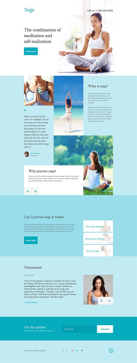 Yoga Responsive Landing Page Template 58228 Responsive Landing Page Templates