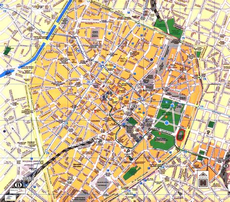 map of central brussels city center of brussels size