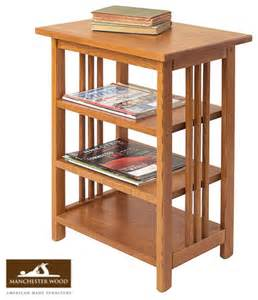 mission 3 shelf end table by manchester wood traditional