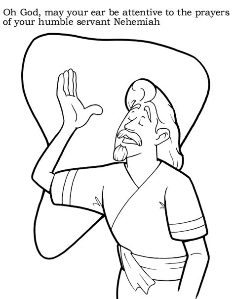 free coloring pages of nehemiah rebuild the wall