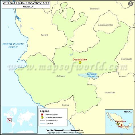 guadalajara on a map where is guadalajara location of guadalajara in mexico map