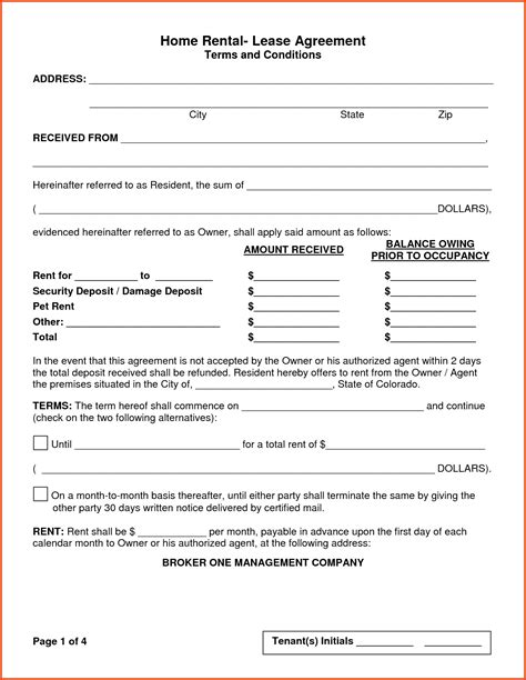 house rental agreement rental lease agreement form jpg