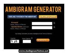two name tattoo generator online ambigram generator combines two words names phrases into