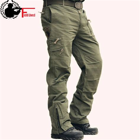Celana Zipper tactical camo jogger casual plus size cotton trousers multi pocket style