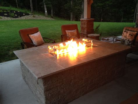 Outdoor Table With Firepit Fireplaces Pits And Tables Showcase Allgreen Inc