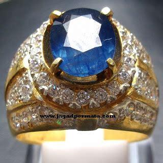 Cincin Mewah Safir Cylon Bertabur Berlian cincin permata sapphire jp302 jual batu permata hobi permata