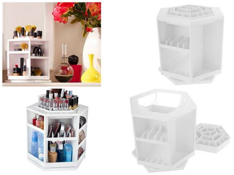 lazy susan organizer lazy susan accessory organizer makeup artist supply holder white spinner rack makeup bags cases
