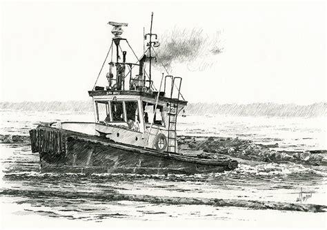tugboat drawing old tugboat drawing