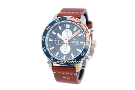 Handmade Leather Watches - 22mm handmade aged brown genuine leather for