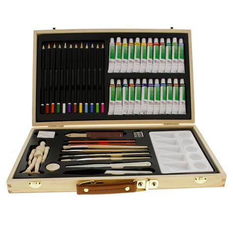 acrylic paint and canvas set us supply 50 acrylic painting set with wooden