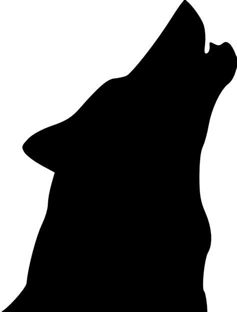 OnlineLabels Clip Art - Wolf Head Howl 1
