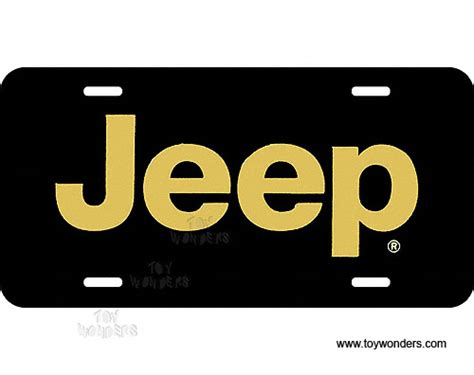 Jeep Tags License Plate Jeep Gold On Black Sign Slaj
