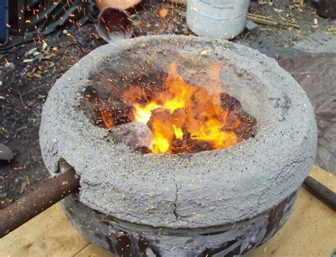 backyard smelting portable hearth for smelting steel by mark green